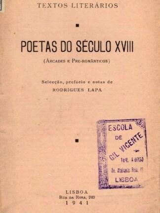 Poetas do Século XVIII de Rodrigues Lapa