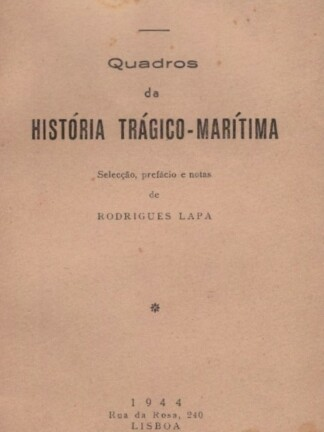 Quadros da História Trágico-Marítima de Rodrigues Lapa
