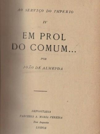 Em Prol do Comum...de João de Almeida