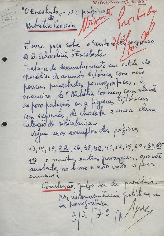 RELATÓRIO Nº 8665 (3 DE FEVEREIRO DE 1970)