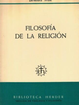 Filosofía de la Religión de Bernhard Welte