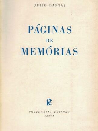 Páginas de Memórias de Júlio Dantas