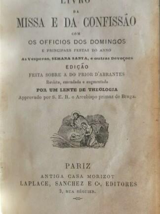 Livro da Missa e da Confissão de Prior d' Abrantes