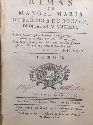 Rimas de Manuel Maria Barbosa du Bocage