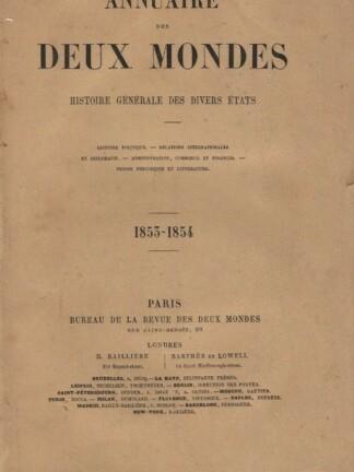 Annuaire des Deux Mondes de Revue des Deux Mondes