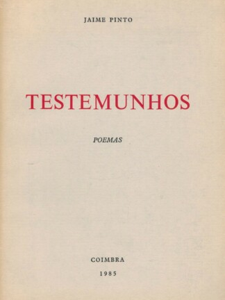 Testemunhos de Jaime Pinto