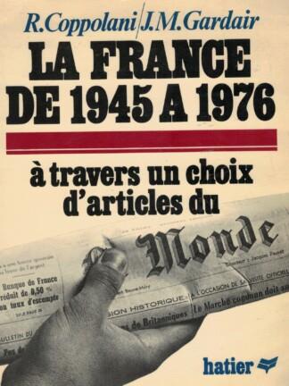 La France de 1945 a 1976 de R. Coppolani