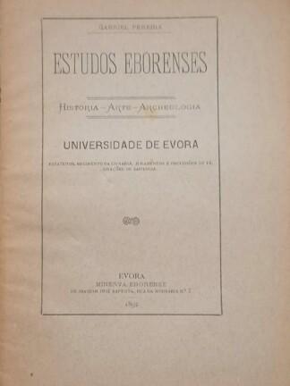 Universidade de Évora de Gabriel Pereira